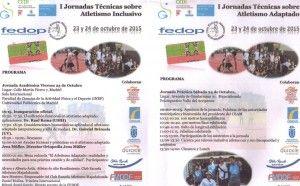 Programa I Jornada Técnica ATletismo Inclusivo